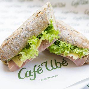 Café Ubé Ham Baguette